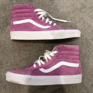 Pink vans- never been worn